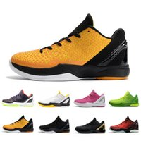 Nike Kobe Bryant Vente chaude Brand BLACK Gold Bhm Proto 6 Mens Basketball Chaussures 6S Think Think Hommes Rose Formateurs Soft Soft Sports Sports Sports de plein air 40-46