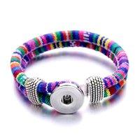 20pcs / серия Нуса-18MM ручной плетеный канат Snap кнопки браслет браслеты Fit женщин DIY моды Привязать ювелирные изделия