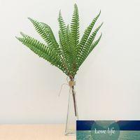 Vert Artificial Plastic Fern Fern Frein Bouquet Silk Vert Plantes Famer Feuilles Persian Feuillage pour la maison Mariage Décor de la fleur de mariage