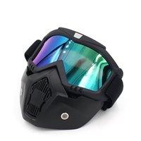 Moda Motocicleta Capacete Andar Botas Cross-country Botas Ao Ar Livre Harley Óculos De Máscara / Lente De Folha Máscara Projeto De Moda Óculos De Goggles