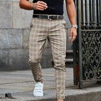 Erkek Pantolon Rahat Ekose Tarzı 2021 Erkekler Pantolon Kalem Erkek 'Streetwear Erkek