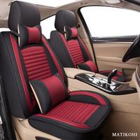 Matikohi Flax Cubiertas de asiento de coche para Ssangyong Korando Kyron Rexton Actyon Sport Rodius Actyon Tivolan Presidente Protector de automóviles Asiento