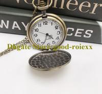 Moda unissex mulheres relógio de bolso colar acessórios vintage atacado camisola cadeia senhoras penduradas mens quartzo relógios a0001