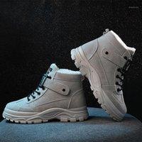 2020 nouvelles bottes de neige sygliscies folies de velours féminin Gardez des chaussures élégantes chaudes Chaussures élégantes femmes Fuax suède bottes1