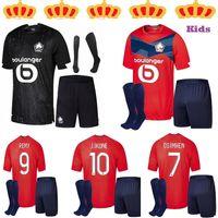 2021 2022 LOSC Lille Soccer Jerseys Fonte Bamba Yazici J David Camisa de Futebol 20 21 Olympique Jikone 10 Adulto + Meias Kit filho