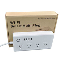 WiFi Smart Power Strip 4 UE / UK / UI / US NOUVELTES Fiche avec 4 USB PORT DE CHARGE DE TIMINATION DE TIMINATION DE COMMANDE VOIX AVEC ALLEXA Google Home Assistant