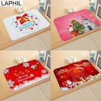 LAPHIL Merry Christmas Decorations for Home Santa Claus Flannel Door Mat Christmas Ornaments Happy New Year 2019 Party Supplies