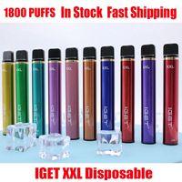 Authentische Iget XXL Einweg-Pod-Gerät Kit 1800 Puffs 950mAh 7ml Vorgefüllter Vape-Stick für Bang-Shion Plus Max Haka-Schalter 100% echt
