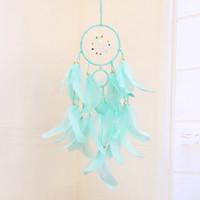 LED Dream Catcher Hanging mestiere piuma lampada fai da te LED Wind Chime Ragazza Stanza Romantico pensili della decorazione della casa regalo di Natale OOE2608