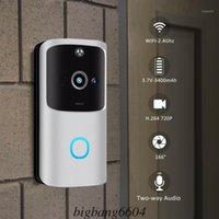 M10 2.4G WIFI WIFI WIFI Smart Doorbell Camera Vídeo Remoto Porta Bell Anel Intercom CCTV CHIME Telefone App Home Security1