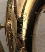 Serie II 802 Sassofono Tenor Saxophone B Laccata in oro piatto BB Sax con moto Guanti Cassa, Canne, Cinghie, Kit di pulizia e accessori