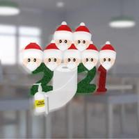 2021 السنة الجديدة زجاج ملصق عيد الميلاد الحلي النافذة الناجي إحياء ذكرى التذكارية ملصقات عيد الميلاد الرئيسية الطرف الديكور LJJP582