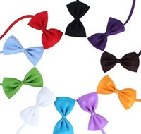 Apparel Home & Garden19 Colors Adjustable Pet Bow Dog Tie Collar Flower Aessories Decoration Supplies Pure Color Bowknot Necktie Grooming Dr