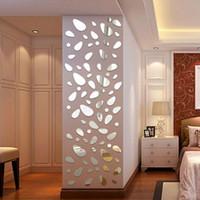 Ana Salon Yatak Odası Dekorasyon TV Arkaplan 3D Ayna Duvar Etiketler DIY Odası Dekor için Duvar Sticker Çıkartması Ayar Çıkarılabilir Akrilik Ayna
