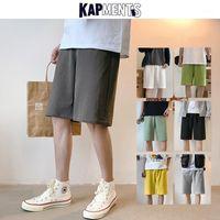 Kapments Men Solid Casual Shorts 2020 Mens de verano Harajuku 7 colores Sweetpants Negro Coreano Moda más Tamaño Pantalones cortos 5XL1