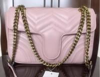 Fashion Frauen wallen Handtasche Schulter-Beutel-Qualitäts-Handtaschen Damen Classic Leder Kette Taschen Messenger Schulter Tasche Kosmetiktasche