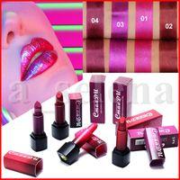 New CmaaDu Lippen Make-up Matte Lippenstift 4 Farben Langlebige Wasserdichtes Natur Dimond Glitter Shimmer Lip Stick