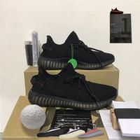 2021 Новейший Kanye West V2 Беговые Обувь Fade Cinder Ash Pearl Черные Статические Светоотражающие Мужчины Женщины Спортивные кроссовки Кроссовки Аксессуары с коробкой