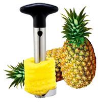 Piña de acero inoxidable Peeler Cutter Slicer Corer Peel Core Herramientas Fruta Verduras Cuchillo Gadget Cocina Espiralizador