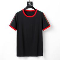 Verão Itália moda marca novo homens camiseta animal serpente tigre cabeça impressão de manga curta t camisa casual tee tops