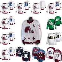 New Colorado Avalanche Jersey 2020-21 Reverse Retro Quebec Nordiques 8 Cale Makar 29 Nathan Mackinnon 96 Rantanen 19 Sakic Hockey Jersey