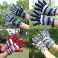 Garder au chaud l'hiver Gant tricot Tie Dyed coloré des femmes des hommes unisexe Mitts Outdoor Tour Anti froid adulte Five Fingers Gants 2 6xm L2