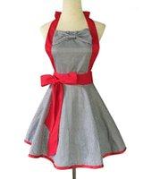 Delantales Xiumood Delantal Rejilla blanco y negro Capa de cuadrícula grande Bow Cotton Falda de tela de algodón Cocina de cocina para mujer Bibs de adultos1
