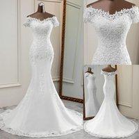 vestidos largos elegantes de la boda bellos apliques de flores vestido de la novia elegante robe de mariee sirena Q1112