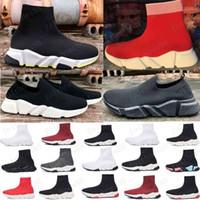 Top Quality Casual Sock Shoes Speed Trainer Black Red Triple Black Fashion Socks Stivali Stivali Sport Sneaker Scarpa da allenatore