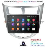 Spieler 2 DIN Android 9.0 Auto DVD für Solaris Akzent Verna 2010-2021 Radio Recorder GPS WIFI USB DAB + NO 2DIN 4G OBD21