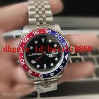 Herrenuhr Armbanduhr blau schwarz Keramik Lünette Edelstahl Watchc 116710 Automatische GMT Bewegung Limited Watchh Jubilee Uhren Meister