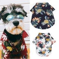 الكلب رقيقة قصيرة الأكمام زي الأناناس نمط الحيوانات الأليفة الصيف المطبوعة قميص الزي ليوم حار الكلب الأزياء ارتداء 1 1