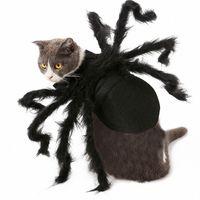 أرجل العنكبوت ازياء الكلب هالوين العنكبوت الحيوانات الأليفة الزي ملابس فروي العنكبوت c8vj #