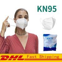 KN95 Маска для лица пылезащитный всплеск доказательство дышащих 5 слоев защиты маски мода многоразовый гражданский рот маски DHL бесплатная доставка