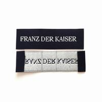 Etichetta principale etichette tessute per abbigliamento Damasco Garment Etichette per cucire etichette per scarpe Etichetta laterale per borsa