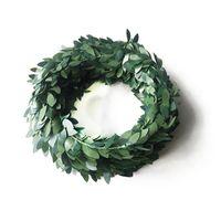 DIY 소재 Garlands 축제 식당 장식 녹색 잎 홈 장식 플라스틱 철선 등대 뜨거운 판매 2 7QL L1