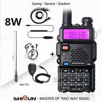 Walkie Talkie Baofeng UV-5R 8W или 5W высокая мощность 8 Вт мощный длительный диапазон 10 км VHF / UHF двойной диапазон Двухсторонняя радио POFUNG UV5R1