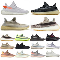 TopsPortMarket Designer Shoes Natural Carbon Running Sneaker Mujeres Hombres Chaussures V2 Yecheil Yecher Kanye West Reflective Sining Air