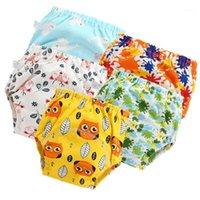 2020 귀여운 아기 면화 훈련 바지 팬티 방수 헝겊 기저귀 재사용 가능한 toolder 기저귀 기저귀 아기 속옷 Washable1