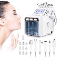 6 في 1 آلة dramabrasrasion الماس الأكسجين جت هيدرا الوجه آلة تقشير بالموجات فوق الصوتية الغسيل RF الوجه رفع آلة microdermabrashasion