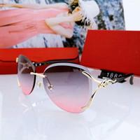 2021 designer frauen sonnenbrille mode top metall rahmen uv400 ultraviolett schützer gläser sommer quadratische stil mit verpackungskästen