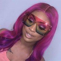 Güneş Gözlüğü Unisex Moda Boy Çerçevesiz Kadınlar Ünlü Tasarım Trendy One Piece Güneş Gözlükleri Kadın Erkek Maskesi UV400