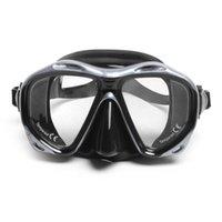 Marka Profesyonel Silikon Dişli Scuba Dalış Maskesi Ekipmanları Şnorkel Yetişkinler Anti-Sis UV Su Geçirmez Yüzmek / Dalış Gözlük Erkek Kadın