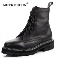 Motk Becon Alta Qualidade Marca Mulheres Ankle Boots 2020luxo Sapatos Mulheres Designers Inverno Boots tornozelo para Y0321