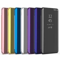 Pour Samsung Galaxy S20 FE Smart Case flip stand Miroir pour Galaxy Lite S20 de protection en cuir cas S20 FE 5G Téléphone Sac