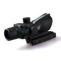 Достопримечательности Trijicon ACOG 4X32 волоконная оптика Tactical достопримечательности прицел Cross The Hunter Hunting Llluminating Микроскоп Black