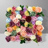 50x50 cm Yapay İpek Gül Şakayık Çiçek Panelleri 3D Düğün Backdrop Duvar Dekorasyon Romantik Sahte Çiçekler Sahne Parti Dekor