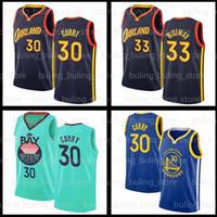 Stephen 30 Jersey Curry James 33 Wiseman 2020 2021 Golden StateGuerriersJersey Antetokounmpo Blue City 20 21 Maillots de basketball