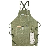 Fashion Korean canvas apron milk coffee restaurant bakery de...