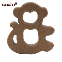 50pcs Monkey Wood Teething Toy for Baby Rattle Teething Ring...
